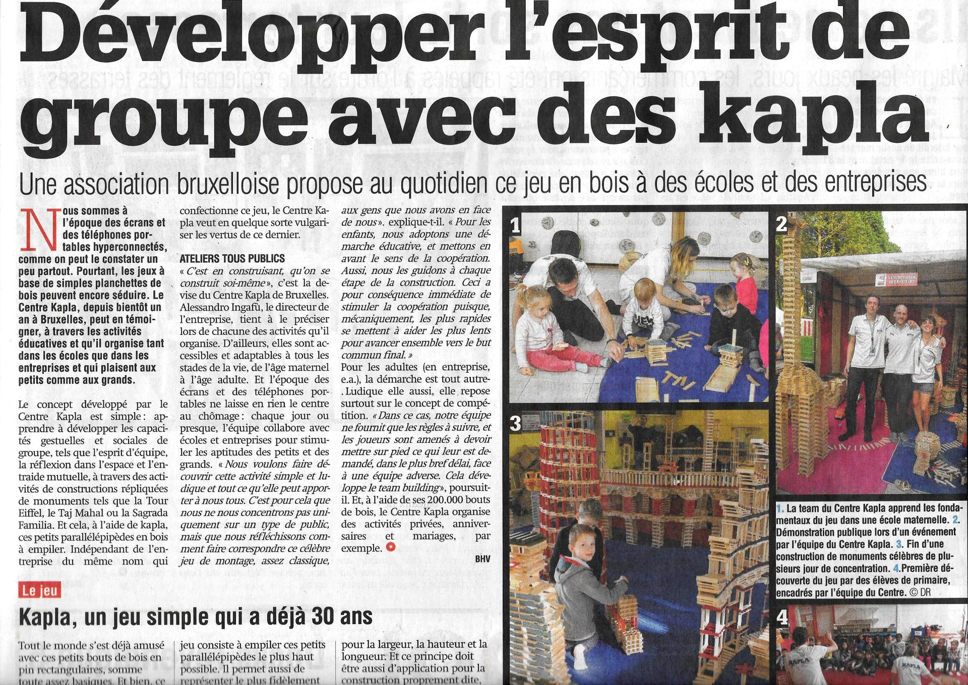 Centre kapla article La Capitale.jpg